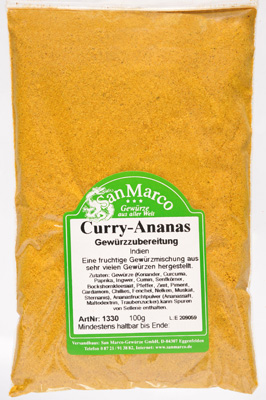 Curry-Ananas, fruchtig