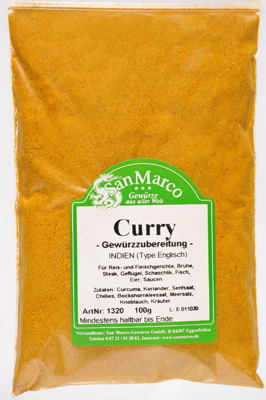 Curry, Type Englisch