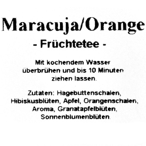 Maracuja/Orange- Früchtetee